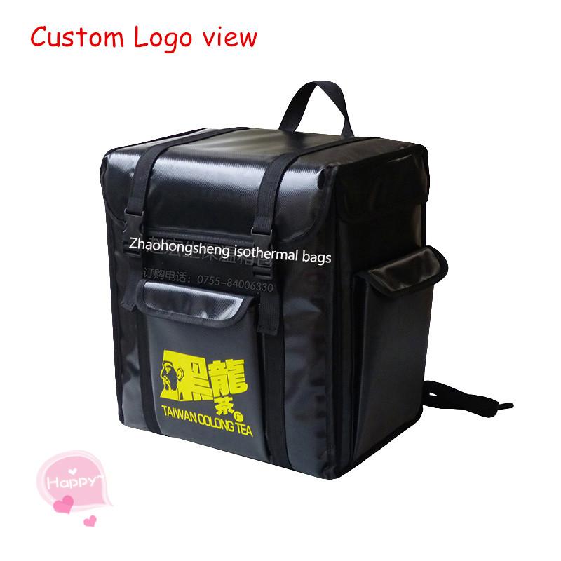 Promotional large custom cold thermal food delivery cooler backpack bag