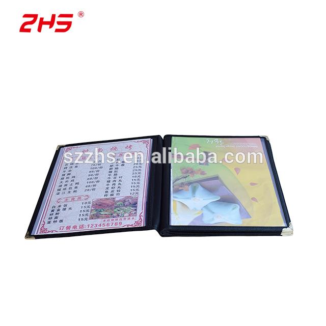 High-end custom colorfastness menu folder from China