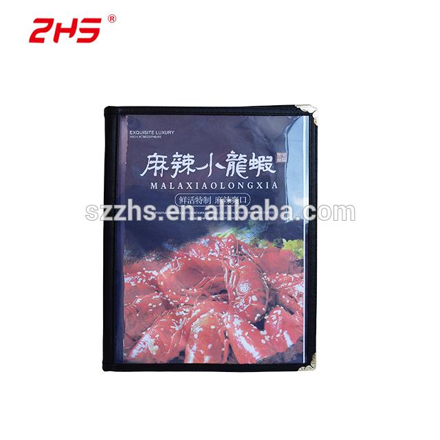 High quality elegant leather menu folder with size A3 or A4