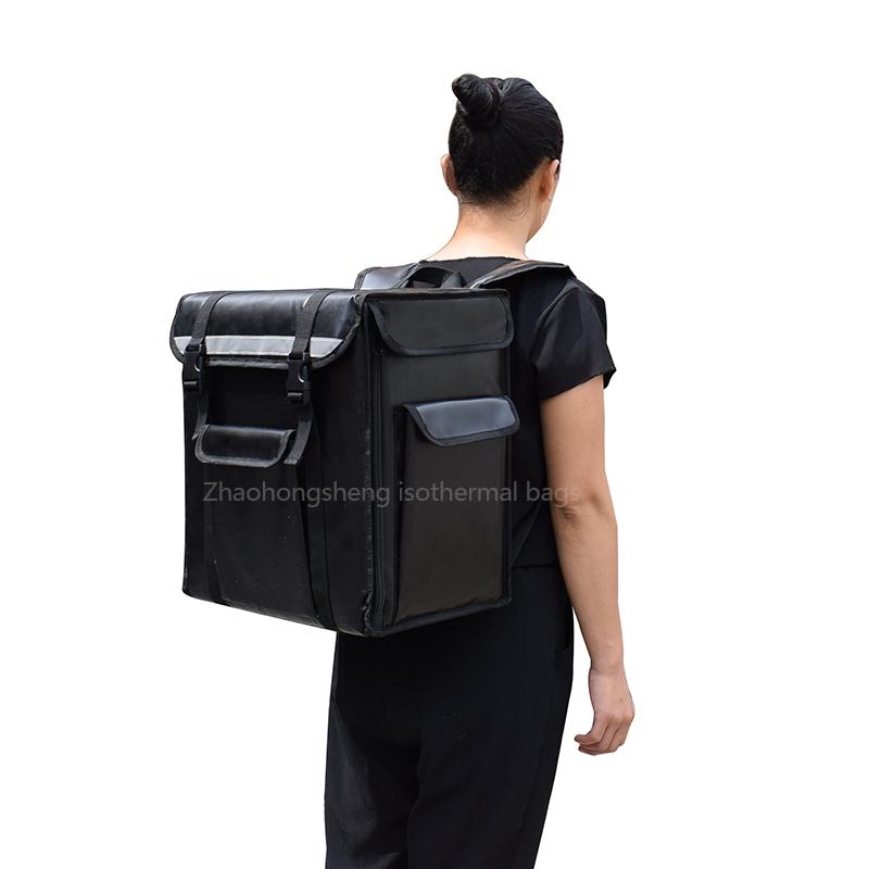 Portable aluminium folie kâld termyske iten levering Koeler lunch bag rugzak